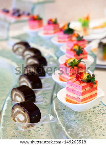 Sweets Cattering. - stock photo