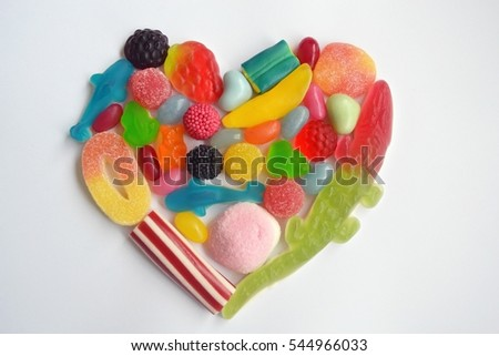 Sweets heart on a white background