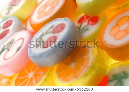 sweets isolated on the white background