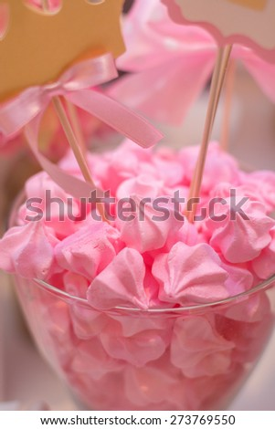 Sweets on the Glass. - stock photo