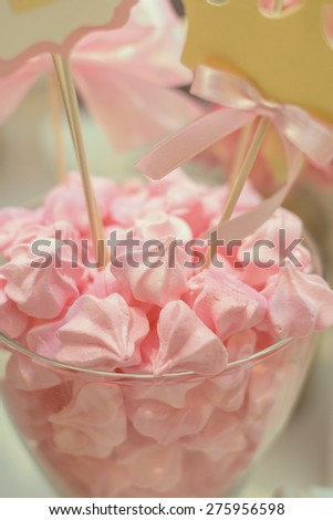 Sweets on the Glass - stock photo