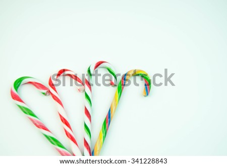 Sweets on white background