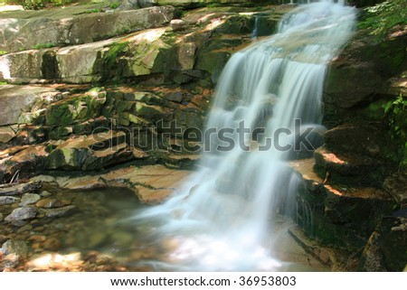 Swiftwater Falls in Franconia Notch  in the White Mountains National Forest, New Hampshire
