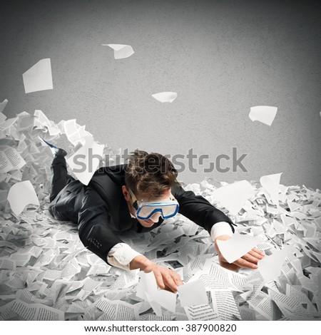 Swim in the bureaucracy - stock photo