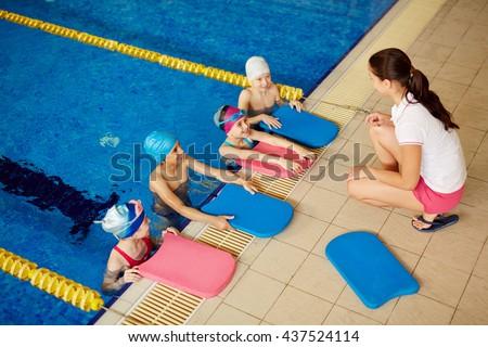 Swim training - stock photo