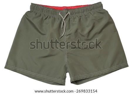 Swim trunks isolated on white background - stock photo