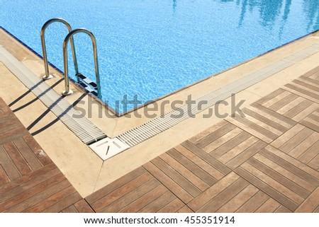 Swiming Pool Detail - stock photo