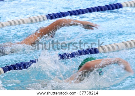 Swimming Competition - stock photo