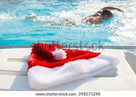 Swimming on Christmas in a warmer place