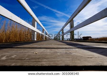 Swimming pier - stock photo