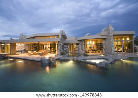 Modern Mansion Exterior modern exterior stock images, royalty-free images & vectors