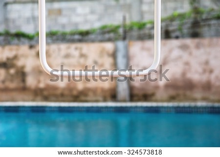 swimming pool and wall abstract - stock photo