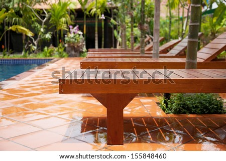 Swimming pool area - stock photo