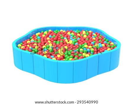 Swimming pool balls - stock photo