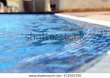 Swimming pool blue mosaic