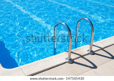 Swimming pool | Blue spa swimming pool with clean water - stock photo