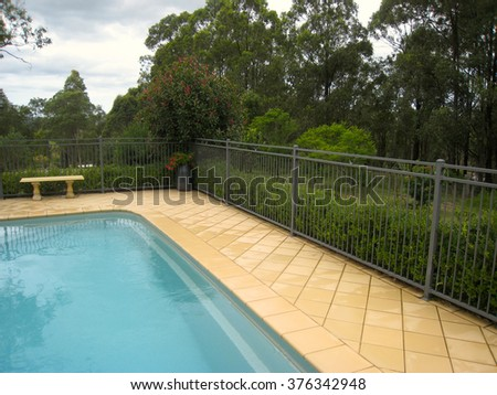 Swimming Pool Detail and Landscaping