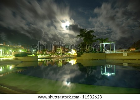 Swimming pool in Venezuela - stock photo