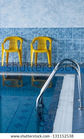 Swimming Pool Interior in hotel - stock photo
