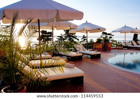 Swimming pool of luxury hotel. Luxury Hotel Stock Images  Royalty Free Images   Vectors