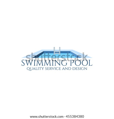 swimming pool service and design logo
