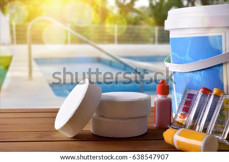 Equipment stock images royalty free images vectors shutterstock for Swimming pool cleaning products