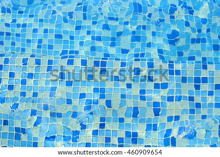 Swimming pool tiles.