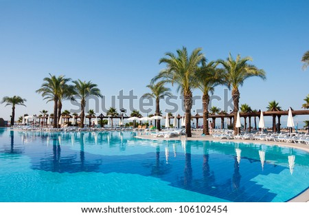 Swimming pool, Turkey - stock photo