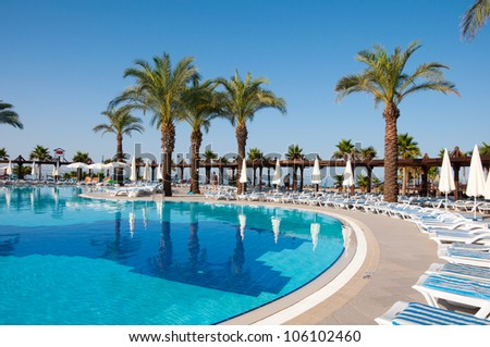 Swimming pool, Turkey - stock photo