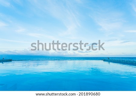 swimming pool with beautiful beach view