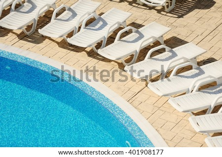 swimming pool with blue water