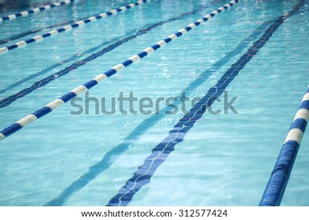 swimming pool with lane lines