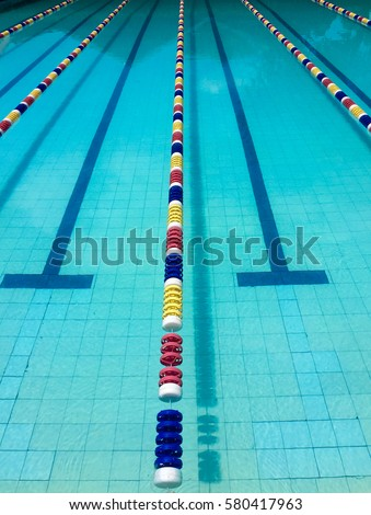 swimming pool with lane markers - Olympic Swimming Pool Lanes