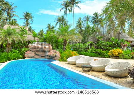 swimming pools - stock photo