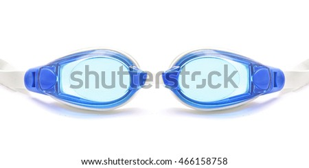 swimming rubber glasses isolated white