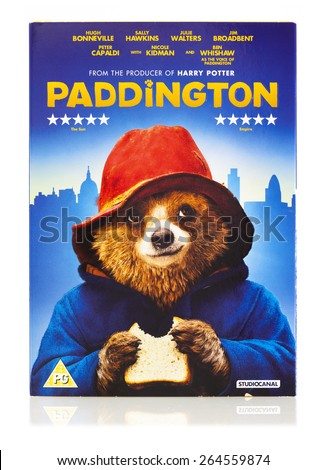 SWINDON, UK -MARCH 29, 2015: Paddington DVD the movie about Paddington Bear - stock photo