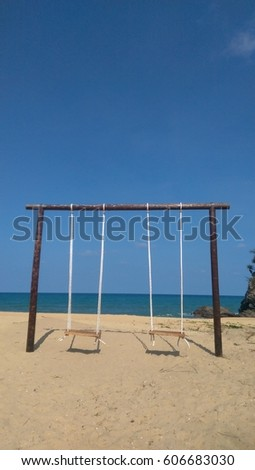 Swing by the beach
