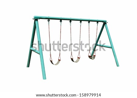 swing for kid isolated on white background  - stock photo