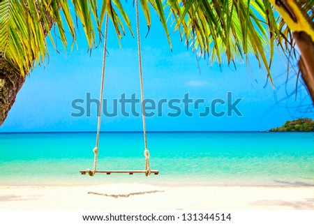 Swing on dream beach