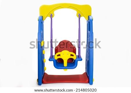 swing  playground - stock photo