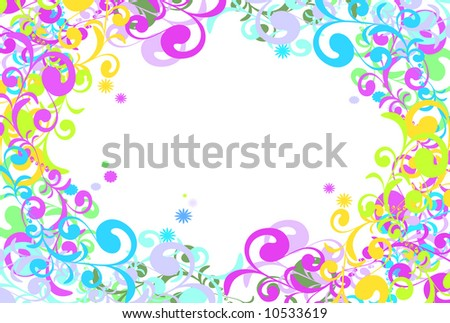 swirl background and border