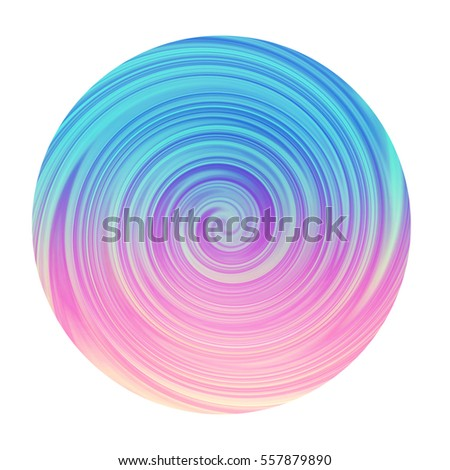 Swirl of Blue and Pink Creamy Circle - High resolution illustration for graphic design or background use.