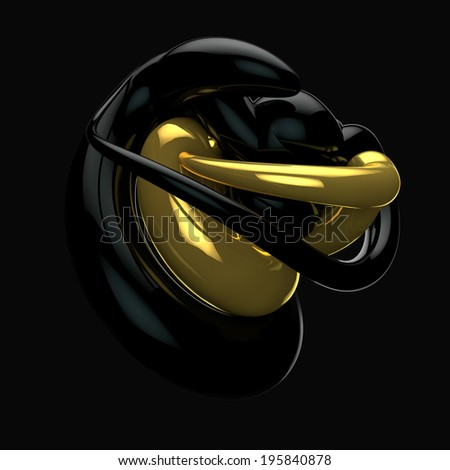 Swirled 3d glossy swag lines and shapes - stock photo