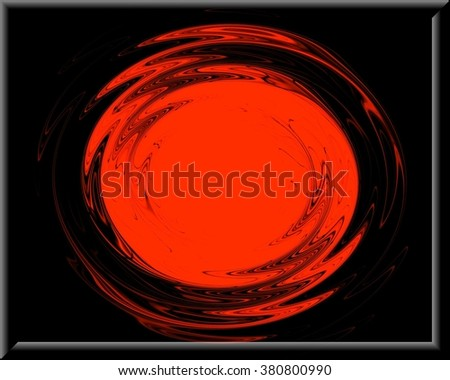 swirling backdrop. Spiral fluid surface deep red color with space for text. - stock photo
