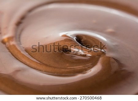 swirling delicious chocolate with ripple - stock photo