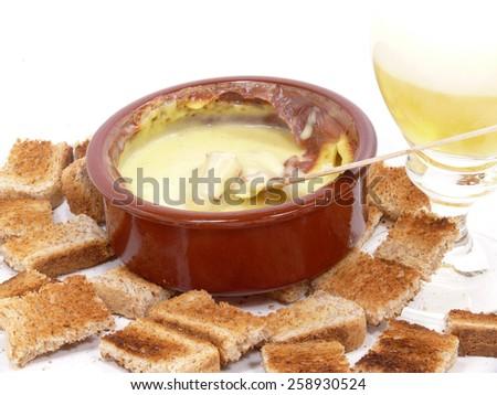 swiss cheese fondue - stock photo