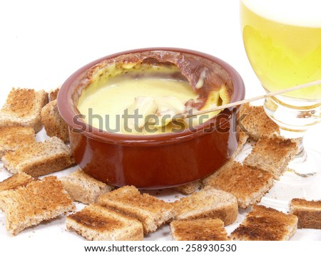 swiss cheese fondue - stock photo