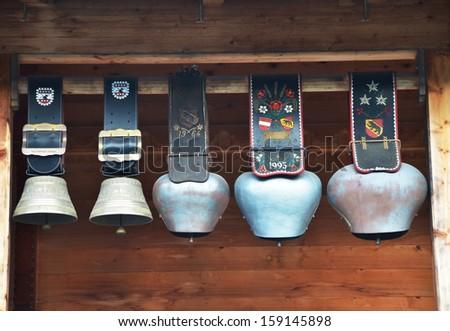Swiss cowbells  - stock photo