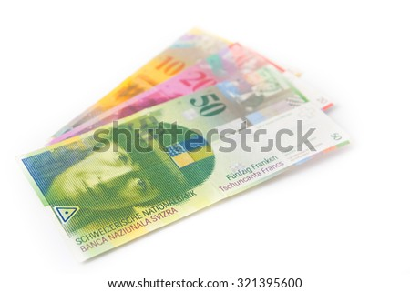 Swiss currency money franc