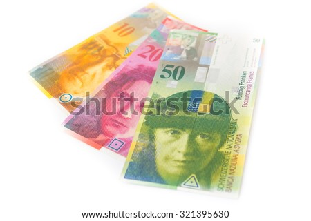 Swiss currency money franc - stock photo